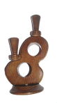 Wooden candlestick Eight
