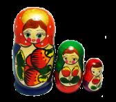 Drewniana lalka gniazdująca (3 szt.)