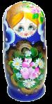 Zagnieżdżona lalka (olej 5 szt.)