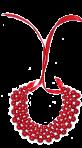 Naszyjnik z wiązaniami