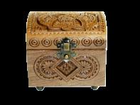 """Pudełko na biżuterię """"orzech 7x10x8 sm"""""""