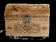 Pudełko na biżuterię 7h13 (orzech)