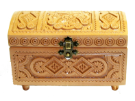 Pudełko na biżuterię 8x16 cm (jasne)