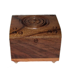 Carved wooden jewelry box little