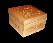 Pudełko na biżuterię drewnianą 7,5х7,5