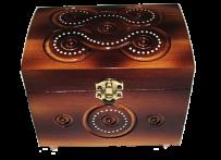 Pudełko na biżuterię z zamkiem 8x11