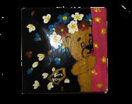 Pudełko na biżuterię z niedźwiedziem 8x8