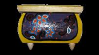 Malowane pudełko na biżuterię 11x11