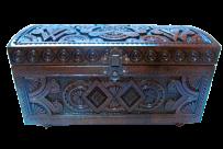 Drewniane pudełko z biżuterią