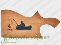 Fisherman Cutting Board with Epoxy