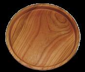 Кругла дерев'яна таця 22 см