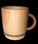 Drewniany kubek 7х6 cm