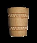 Drewniany kieliszek do wina