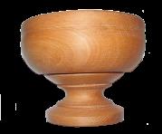 Деревянная пиала d-19