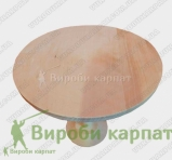Round wooden dish on a leg 28 cm