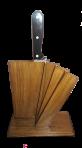 Drewniany stojak na noże kuchenne.