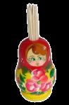 Zagnieżdżona lalka z wykałaczkami
