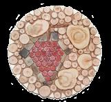 Подставка под горячее Виноград мозаика