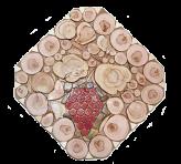Trójnóg pod gorącymi kwadratowymi winogronami Mozaiki