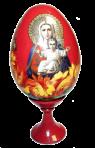 Uovo di Pasqua dipinto su supporto (piccolo)