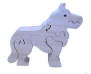 Wooden puzzle dog