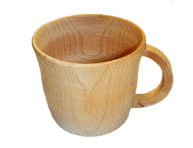 Чашка з дерева