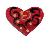 Drewniany magnes na serce
