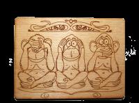 Магнит к 2016 г. (три обезьяны)