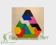 Tangramowy trójkąt łamigłówki