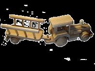 Ciągnik z zabawkami