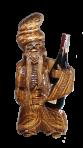 Drewniany posąg kozaka z szampanem 750 g