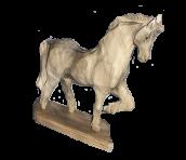 "Drewniana statua ""konia"""