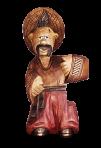 Drewniany kozak posąg z butelką 0,7