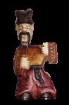 Kozak drewniany posąg 0,25