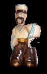 Drewniany posąg Żeglarza z butelką 0,7 L.