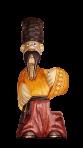 Drewniana statua wąsaty Chumak 0,5 L