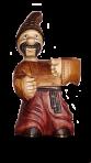 Kozak drewniany posąg w napiętym kapeluszu 0,7 l