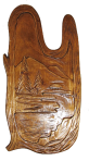 Rzeźbione drewniane zdjęcie