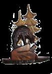Rzeźbiona statuetka Niedźwiedź