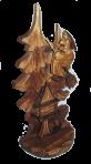 Rzeźbiony posąg Baby Jagi