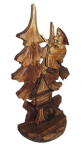 Резная статуэтка Баба-яга