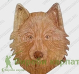 Carved panel Wolf