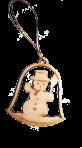"""Игрушка """"снеговик на колокольчике"""""""