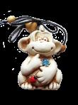 Керамическая обезьянка
