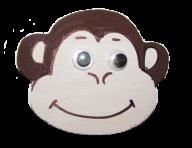 Смайл обезьянки на магните