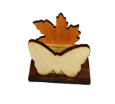 Листок и бабочка