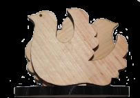 Posiadacze serwetek Para gołębi