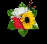 Зажим з квіточками
