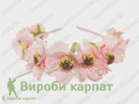 Венок для волос хризантема