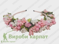 Hair hoop with flowers